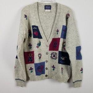 Vintage 1980's Woolrich Woman gray Cardigan L